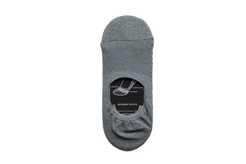 Etzel -Perfect Fit Invisible Socks(Gray)