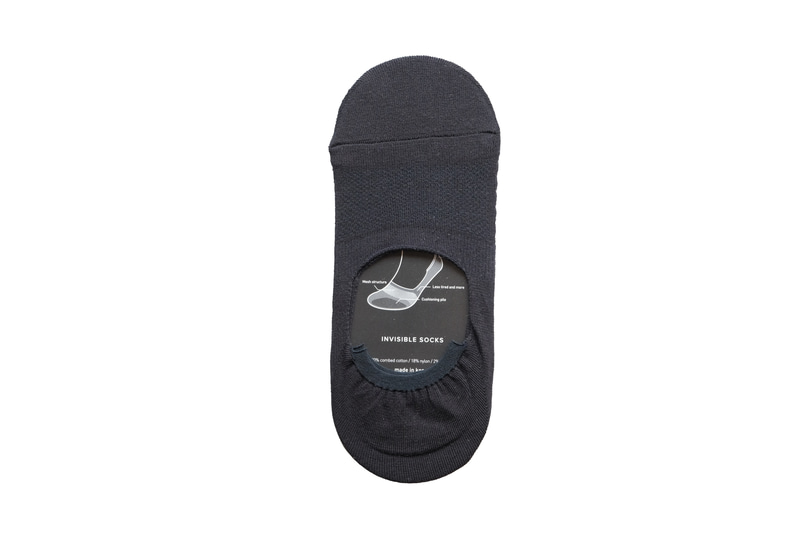Etzel -Perfect Fit Invisible Socks(Navy)