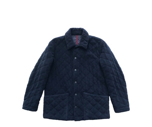 Navy Blue Husky Quilted Jacket