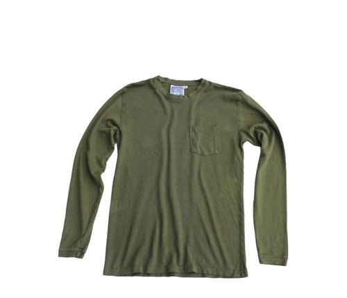 Baja Long Sleeve 7oz. Pocket Tee (Unisex)  - Supply Green