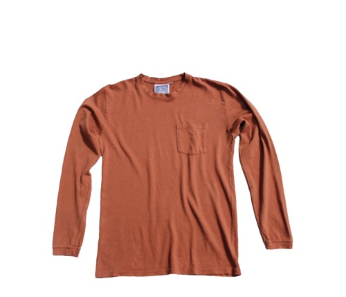 Baja Long Sleeve 7oz. Pocket Tee (Unisex) - Terracotta