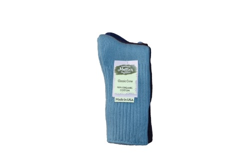 Maggie's Organics - Cotton Crew Socks - 3pak(Denim/Egg/Navy)