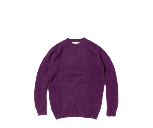 Shaggy Dog Crew Neck Sweater / Royal Eminence