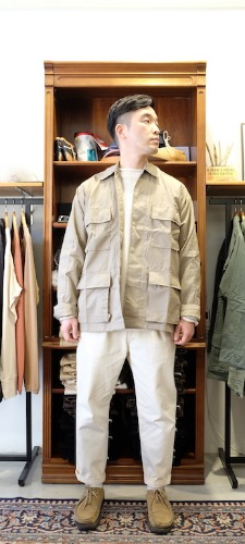 Poly/Cotton Twill Solid BDU Shirts (Khaki)